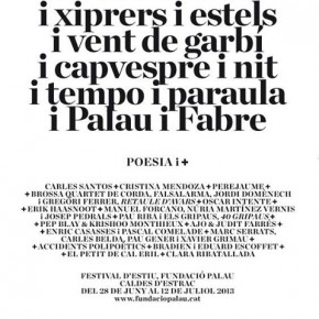 8è Festival Poesia i + a Caldes d'Estrac