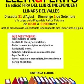 LLETRaFERITS | 1a Fira del Llibre Independent a Llinars del Vallès